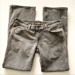 7 for all Mankind A Pocket Flare Jeans Gray 30